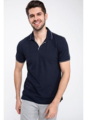 DeFacto Şerit Detaylı Kısa Kollu Slim Fit Polo T-shirt